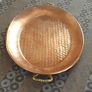 Vintage Copper Serving Tray